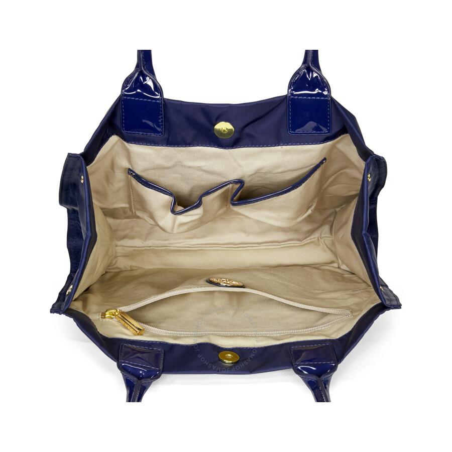 Tory Burch Mini Ella Tote French Navy Handbags Nylon