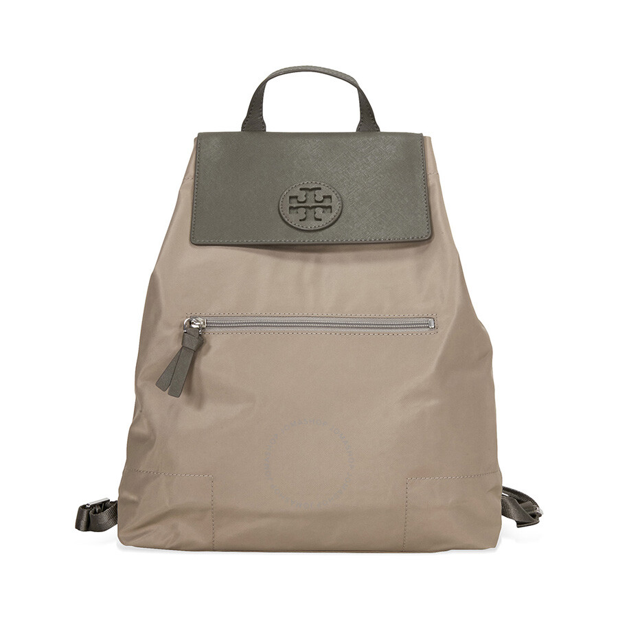 ba908c0db0e Tory Burch Packable Nylon Backpack- French Gray Item No. 28994-036