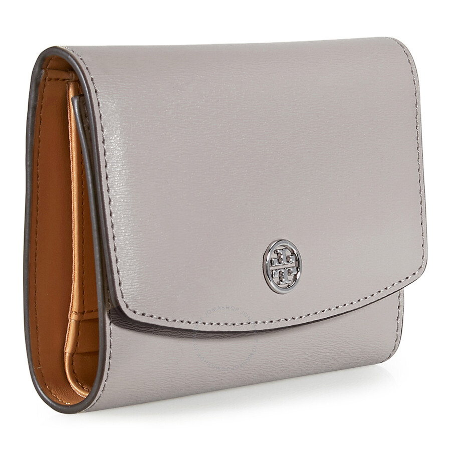 Tory Burch Parker Medium Flap Leather Wallet - Dust Storn - Tory ...