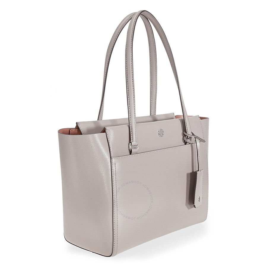 7b37ab8e71f Tory Burch Parker Small Leather Tote - Dust Storm   Cardamom - Tory ...