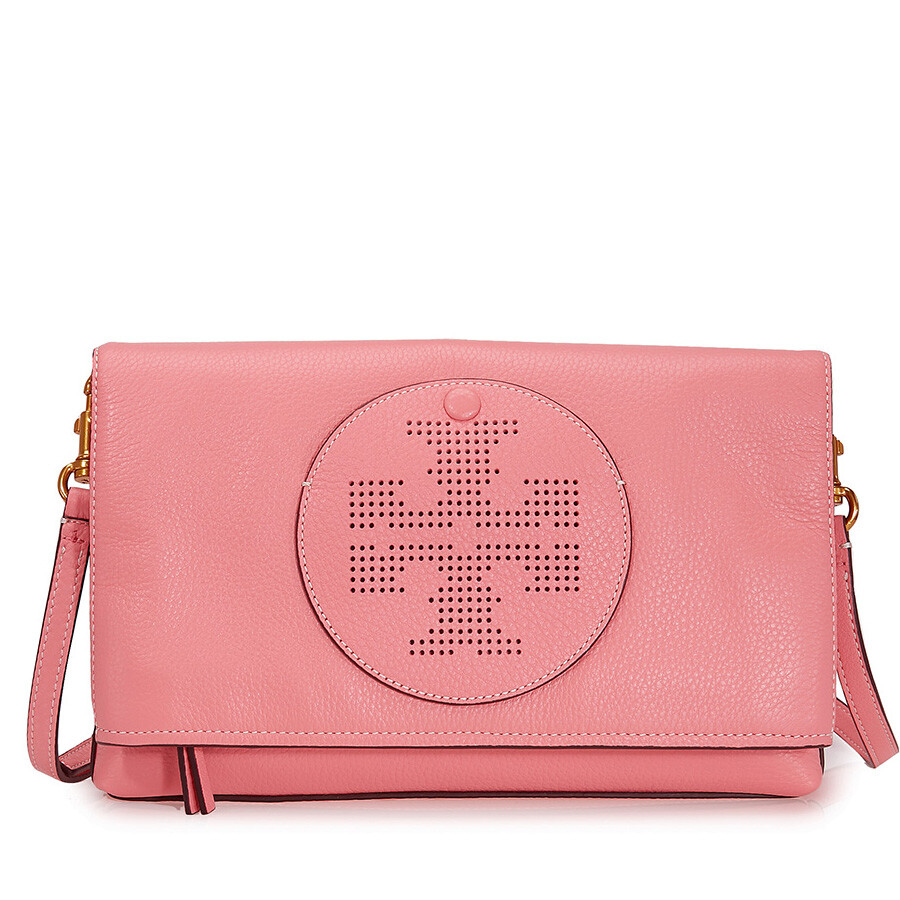 fa0a15d2fdb Tory Burch Perforated Logo Fold Over Crossbody - Cosmo Item No. 36812-655