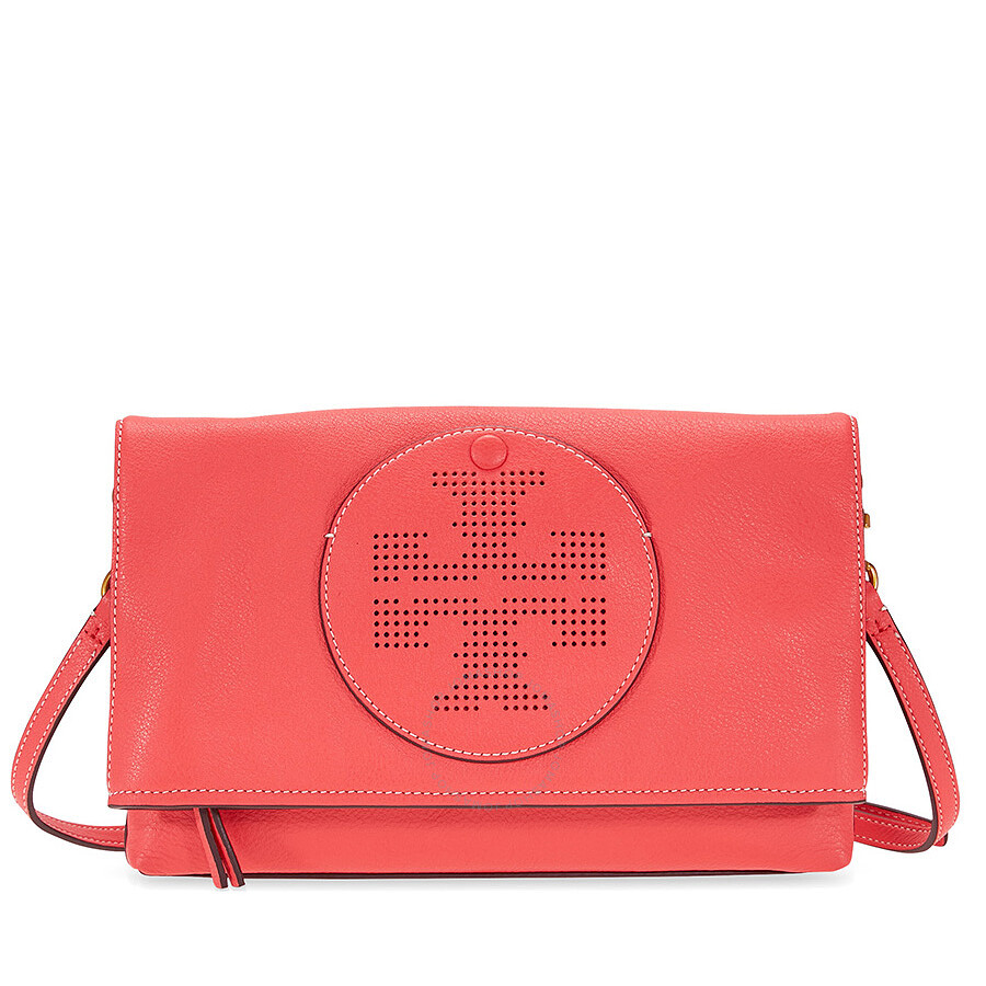 ffc7d01ce74 Tory Burch Perforated Logo Fold Over Crossbody - Red Ginger Item No.  36812-607