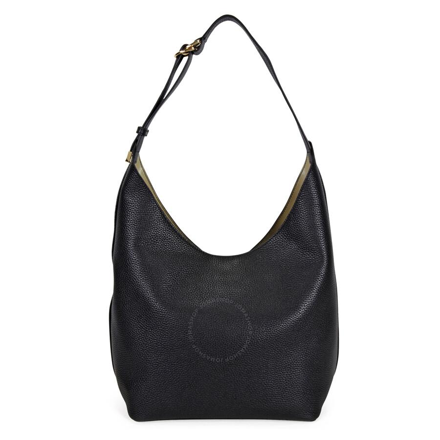 668323e0f64a Tory Burch Perry Leather Hobo Bag - Black - Tory Burch - Handbags ...