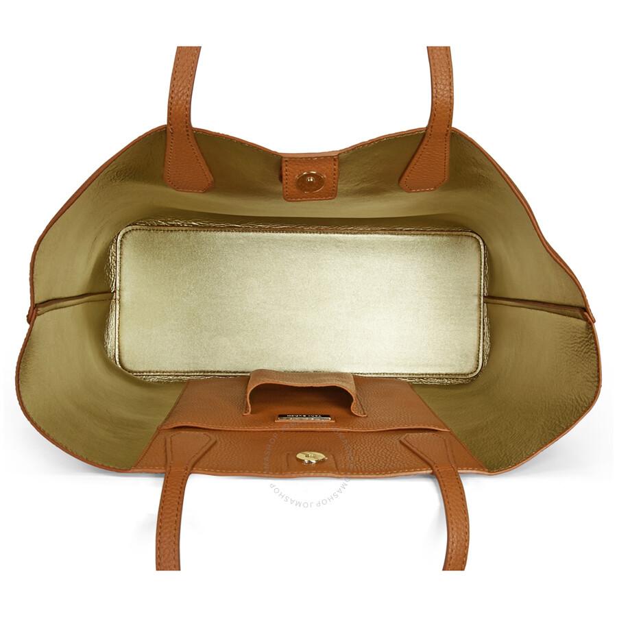 2c2c8d09b Tory Burch Perry Leather Tote - Bark - Tory Burch - Handbags - Jomashop