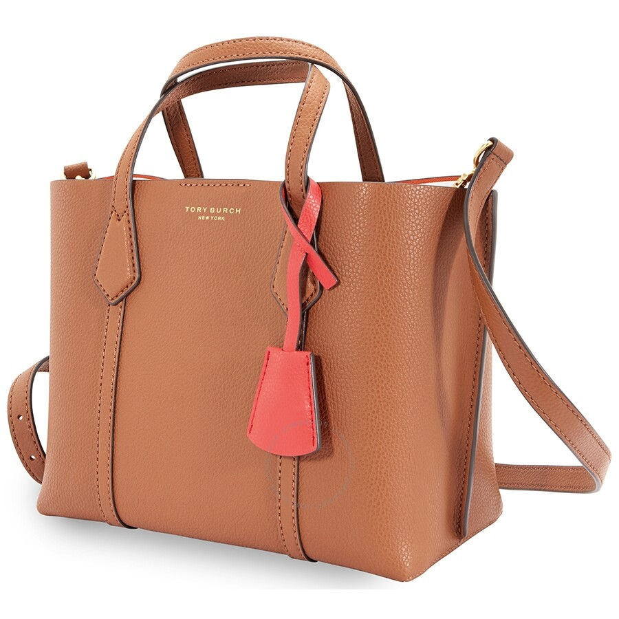 Perry Small Triple Compartment Tote  Light Umber by Tory Burch