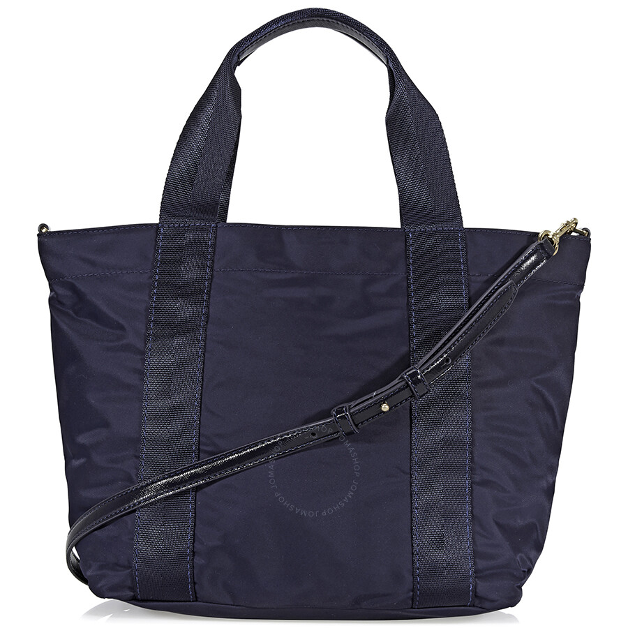 f8cd29f6b7aed Tory Burch Quinn Small Nylon Tote - Navy - Tory Burch - Handbags ...