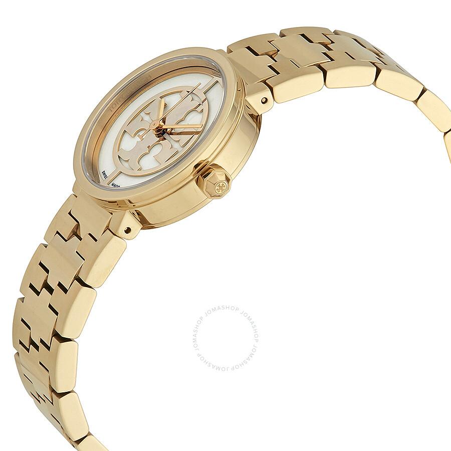 0a20903c2a6 Tory Burch Reva Ivory Dial Ladies Gold Tone Watch TRB4011 - Tory ...