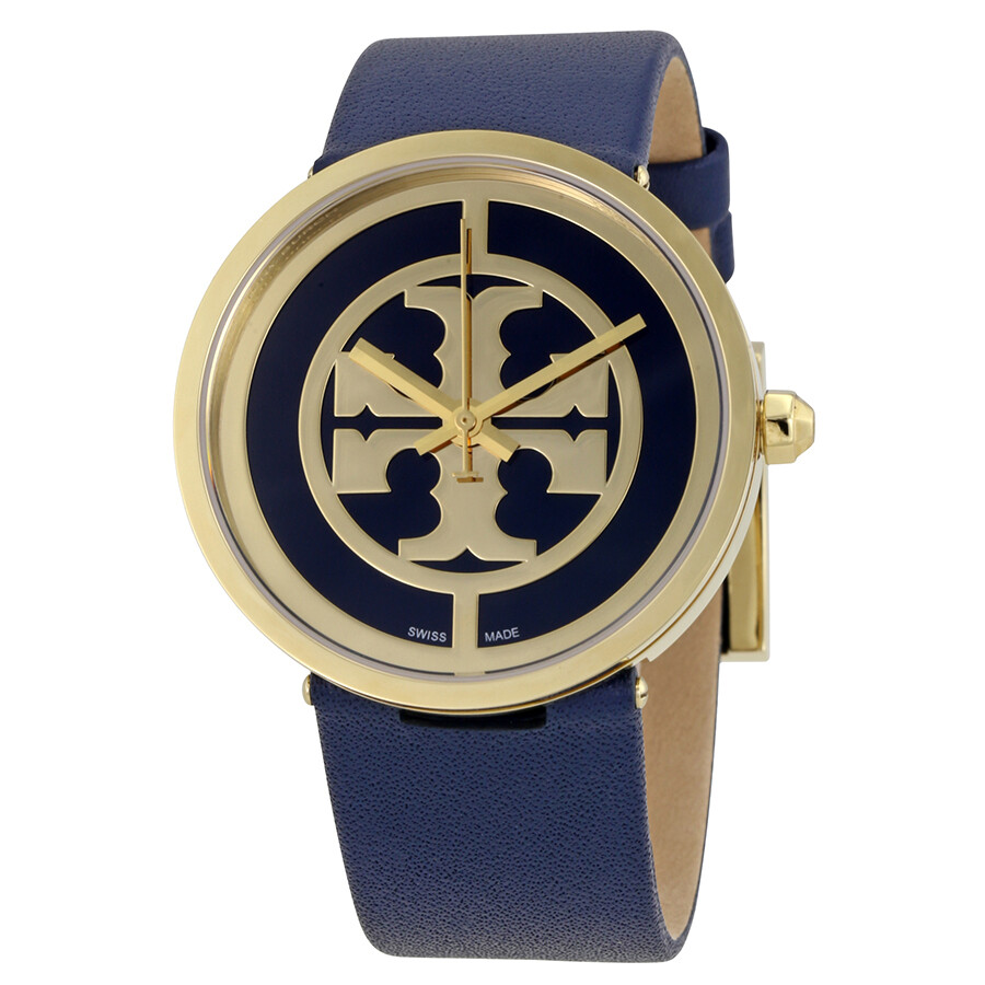 b35961b48 Tory Burch Reva Navy Blue Dial Leather 36 MM Ladies Watch 4021 Item No.  TB4021