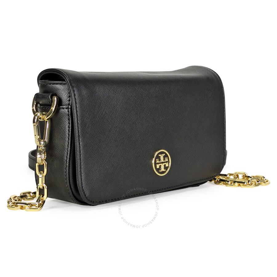 Tory Burch Robinson Chain Mini Bag Black
