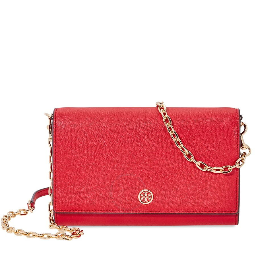 b285aac399 Tory Burch Robinson Chain Wallet- Red - Tory Burch - Handbags - Jomashop