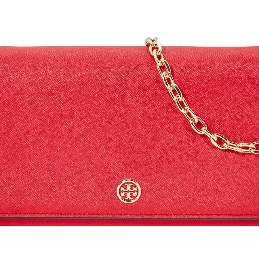 33a8508af16 Tory Burch Robinson Chain Wallet- Red - Tory Burch - Handbags - Jomashop