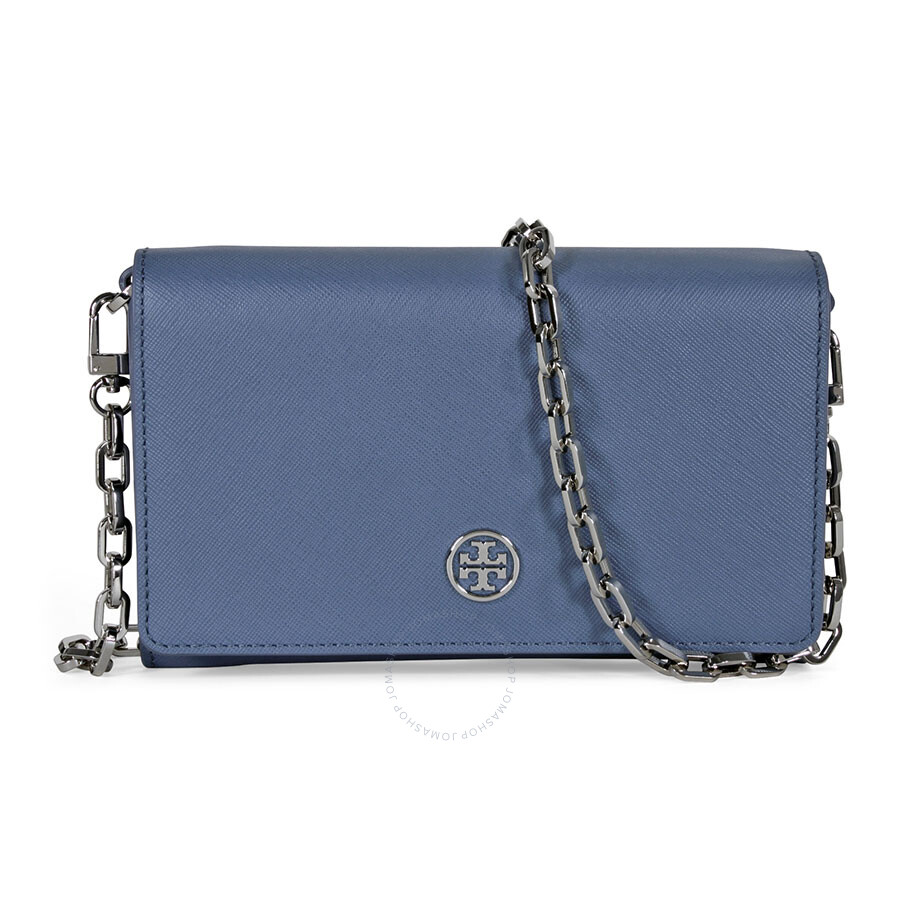 c7ab96888067 Tory Burch Robinson Chain Wallet - Comet Blue - Tory Burch ...