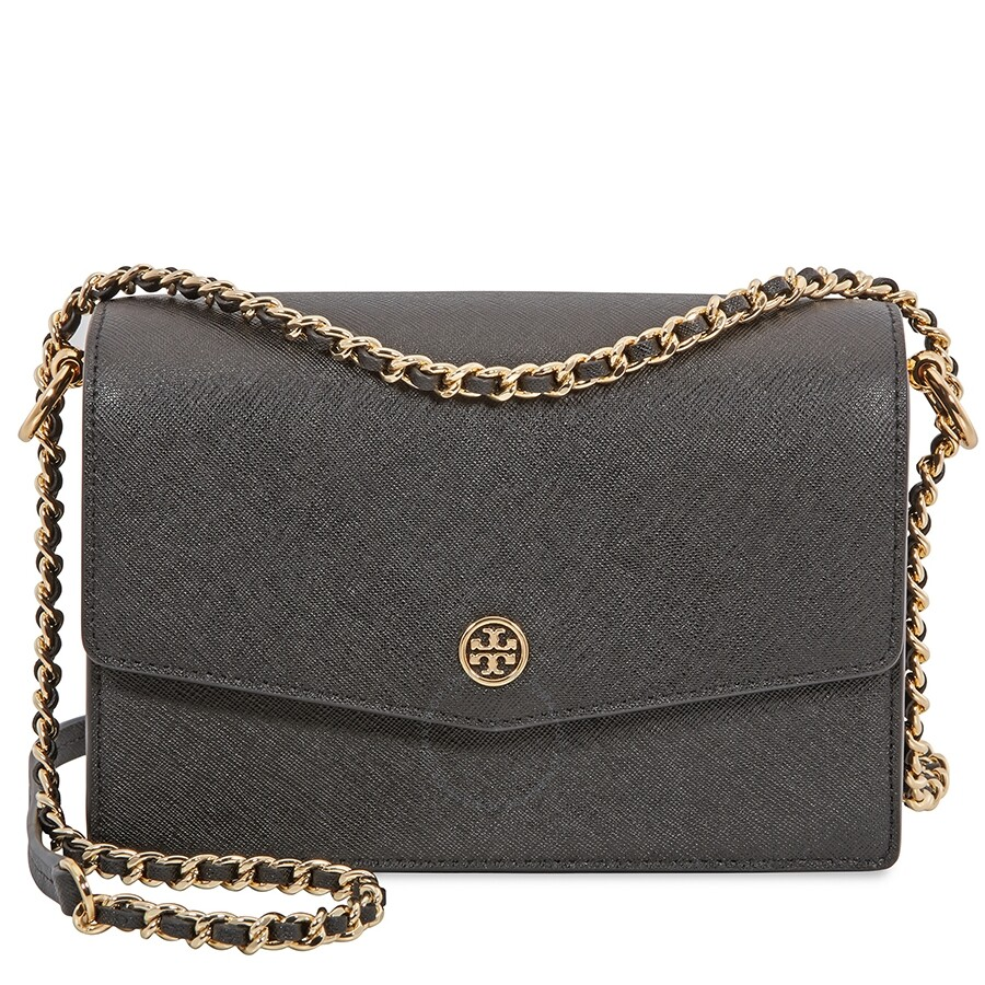 f39e11bdc23 Tory Burch Robinson Convertible Mini Shoulder Bag- Black - Tory ...