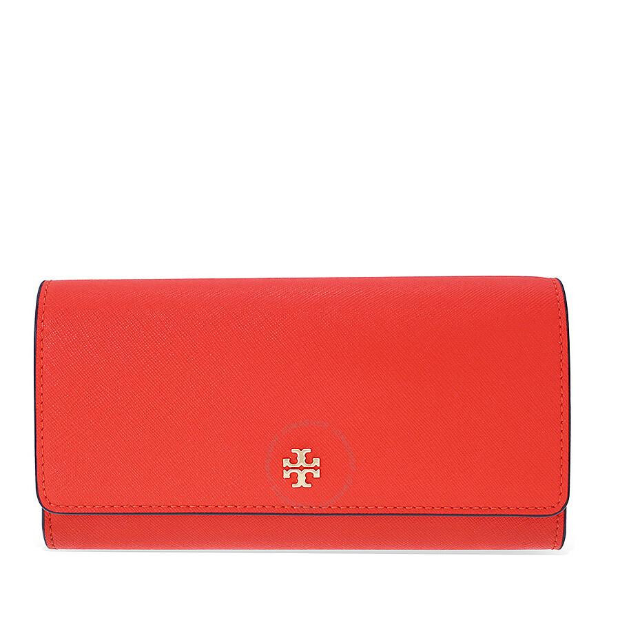 5d4e6e2cda01 Tory Burch Robinson Envelope Continental Leather Wallet - Samba Item No.  11169072-627