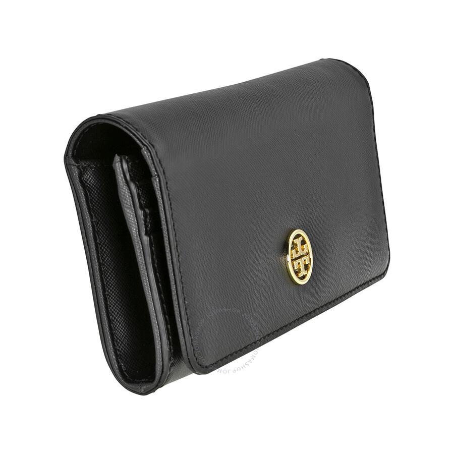 a8c3c4c5fa2d Tory Burch Robinson Envelope Continental Wallet - Black - Tory Burch ...