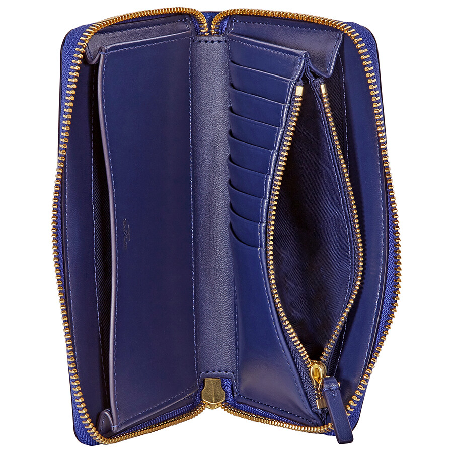 a176fc7e66a ... Tory Burch Robinson Leather Smartphone Wristlet - Regal Blue   Royal  Navy