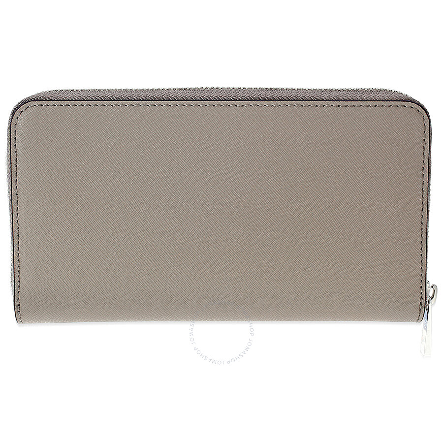 ac84f67ab37 Tory Burch Robinson Leather Zip Continental Wallet - French Gray Item No.  11169071-036