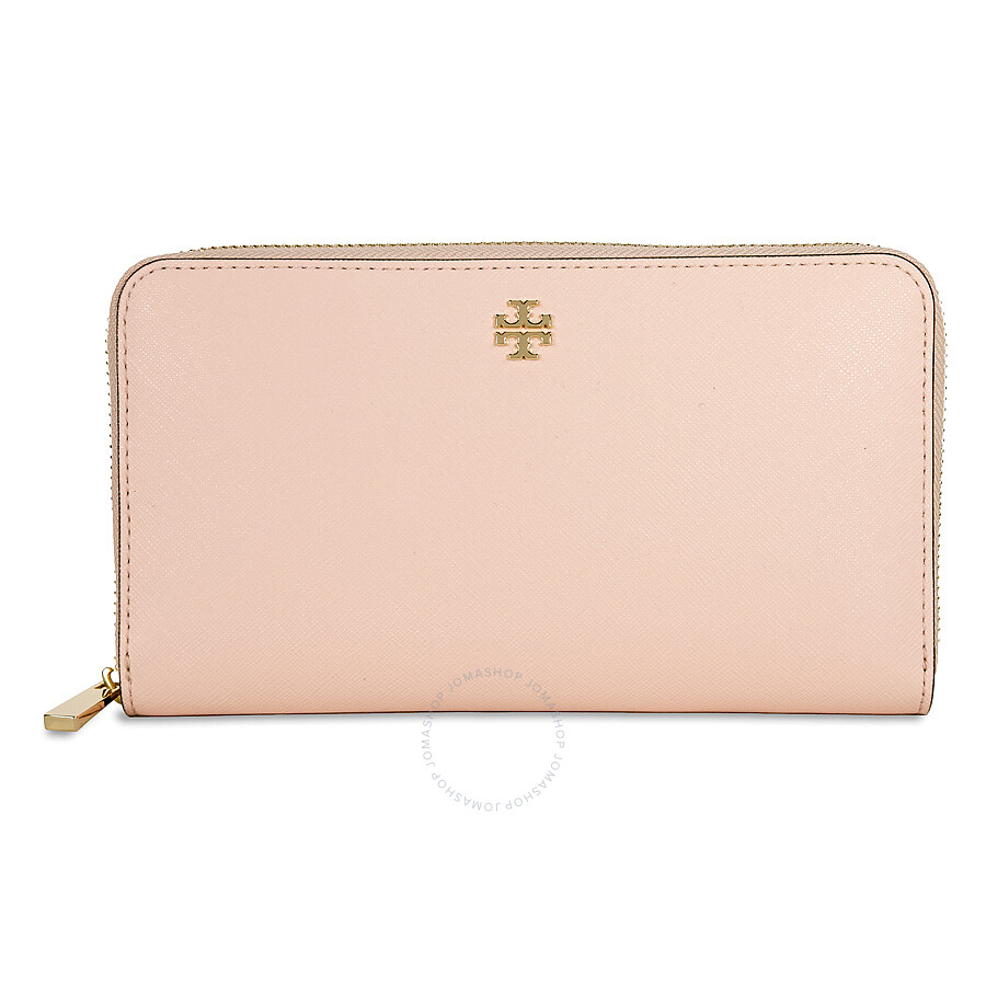 1e5c21470874 Tory Burch Robinson Leather Zip Continental Wallet - Pale Apricot Item No.  11169071-228