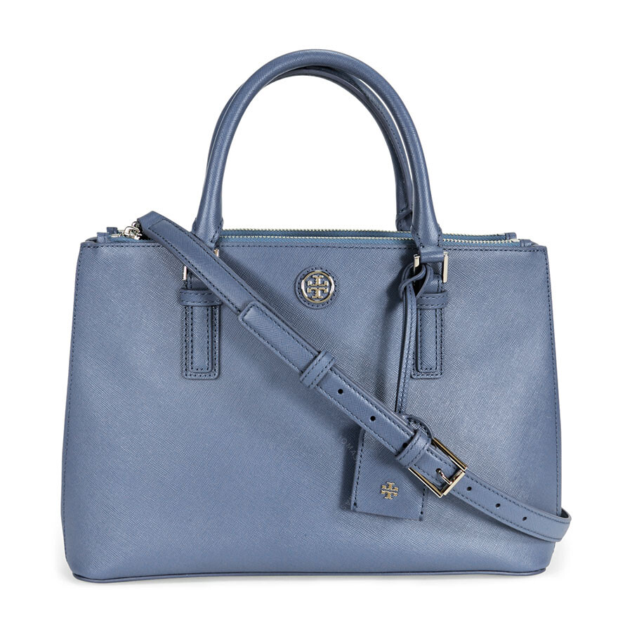 7f901b8a45883 Tory Burch Robinson Mini Double-Zip Tote - Comet Blue - Tory Burch ...