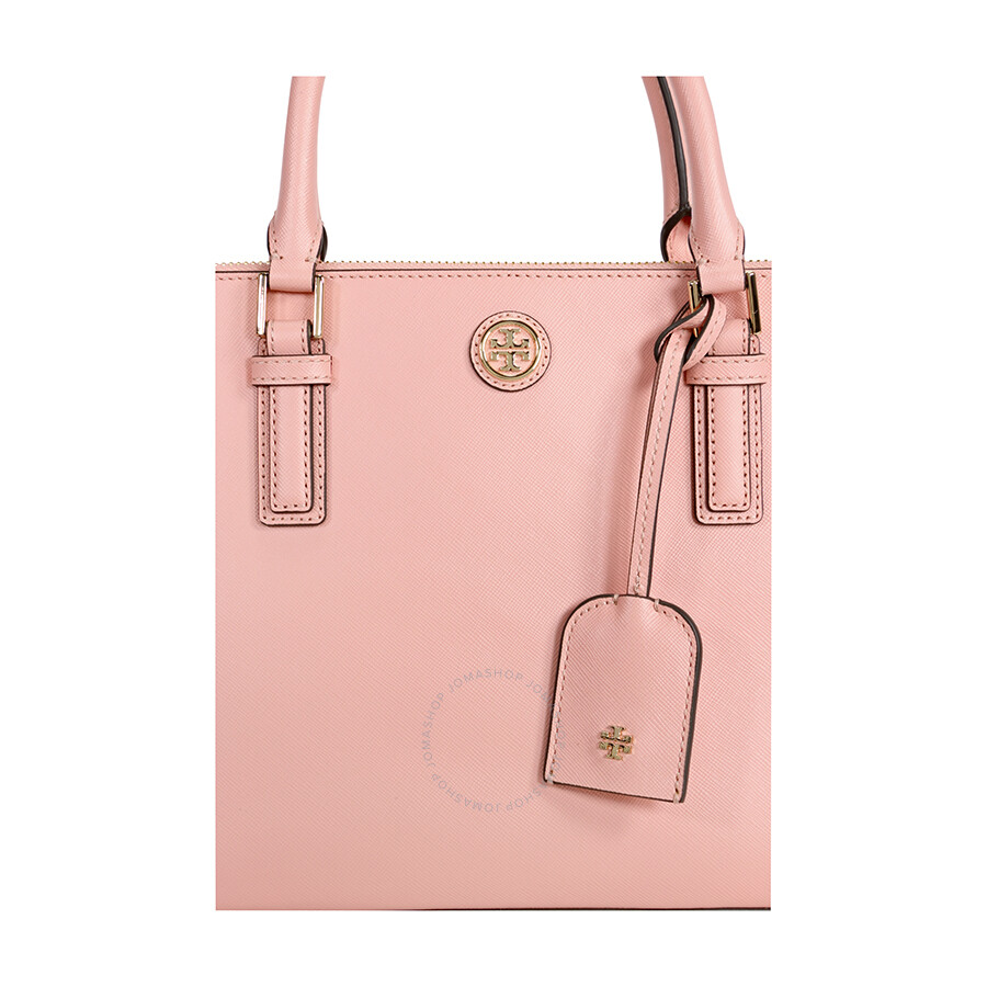 tory burch robinson mini double zip tote rose sachet tory burch handbags jomashop. Black Bedroom Furniture Sets. Home Design Ideas