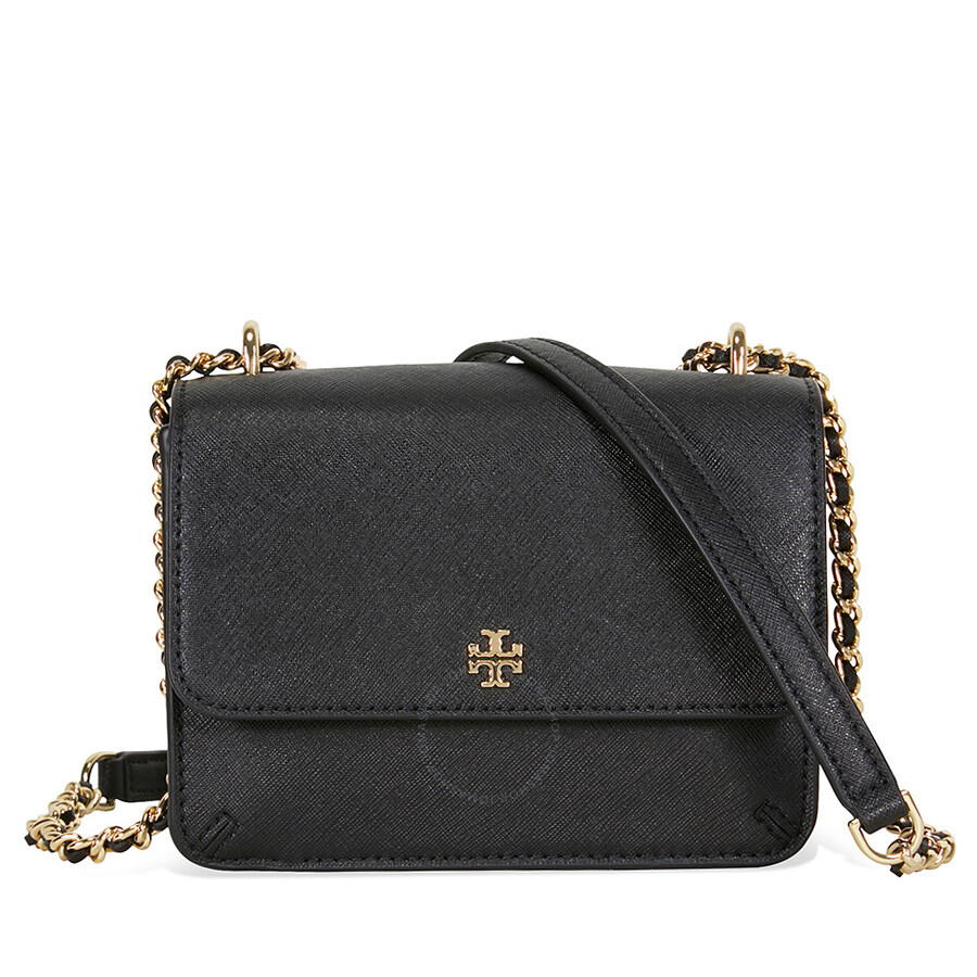 02fad4c7619 Tory Burch Robinson Mini Shoulder Bag - Black Item No. 35620-001