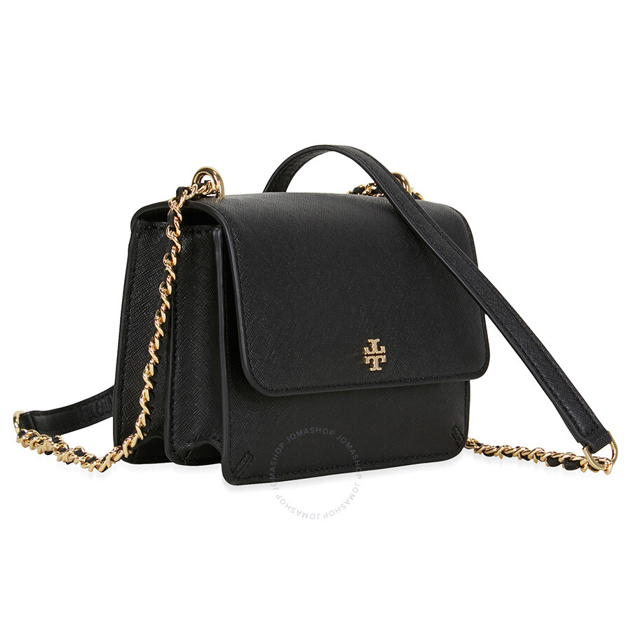 6b33fbd617252 Tory Burch Robinson Mini Shoulder Bag - Black - Tory Burch ...