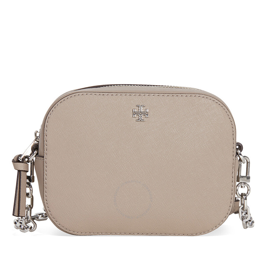66a660cdb70b8 Tory Burch Robinson Round Crossbody - French Gray Item No. 34313-036