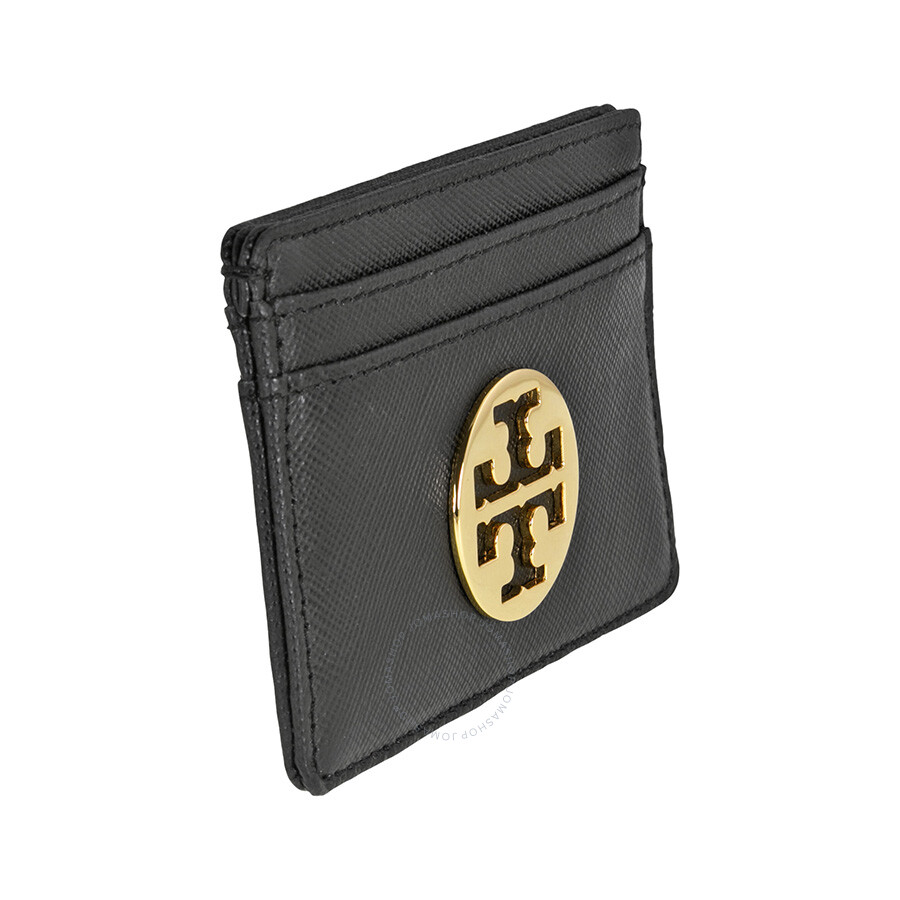 the latest 53b1f 75915 Tory Burch Robinson Slim Card Case - Black
