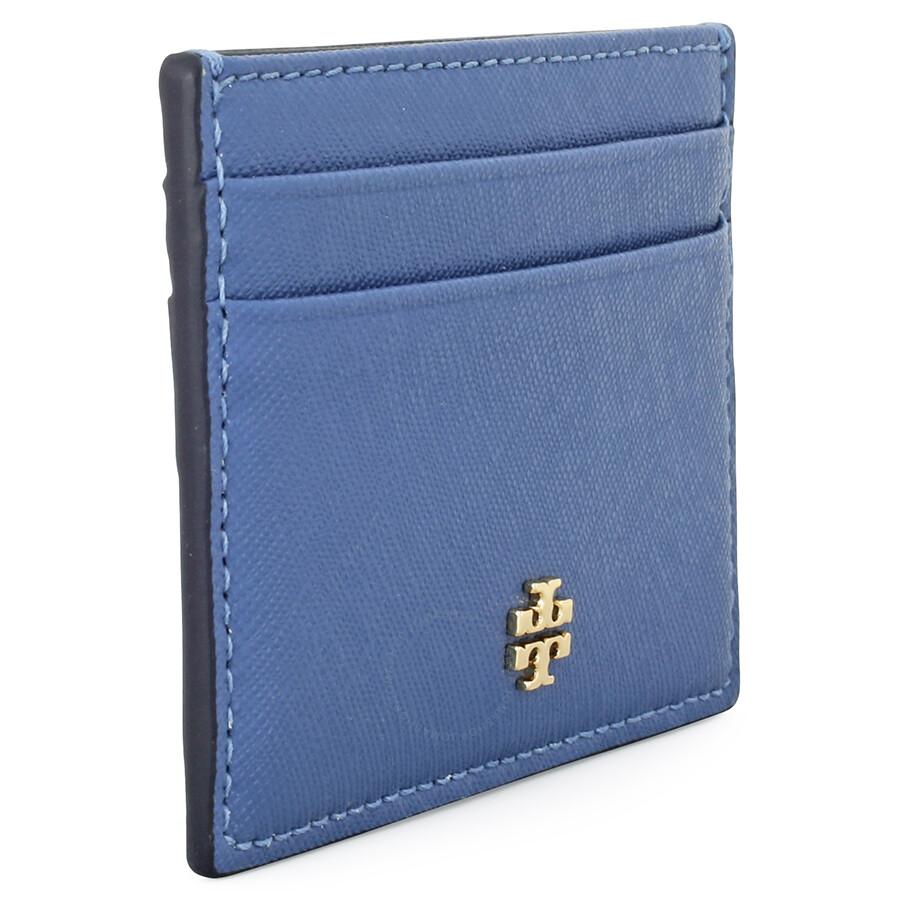 uk availability 3cecd d2cee Tory Burch Robinson Slim Card Case- Wallis Blue
