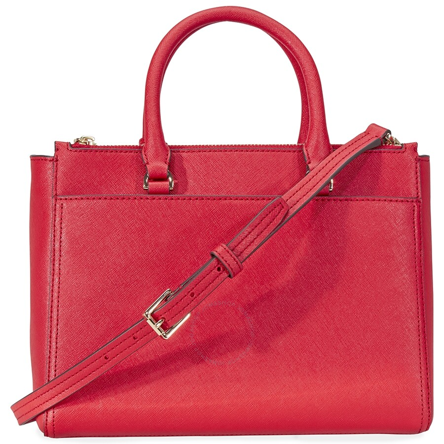 2656cab595e Tory Burch Robinson Small Double-ZIp Tote- Red - Tory Burch ...