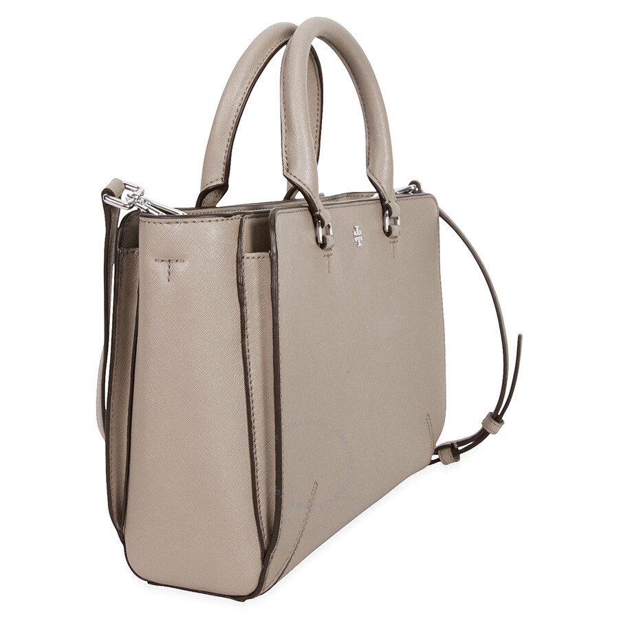 6de3dedb5 Tory Burch Robinson Small Zip Leather Tote - French Gray - Tory ...