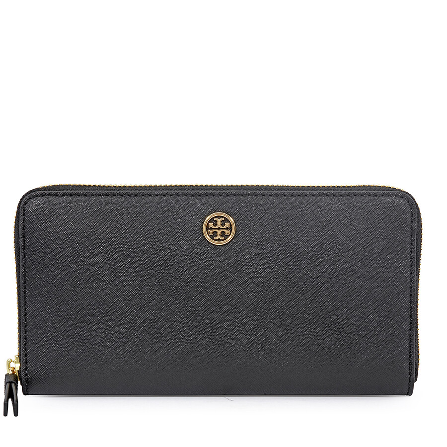 06eaa7eeb41 Tory Burch Robinson Zip Continental Wallet- Black Royal Navy Item No.  45254-018