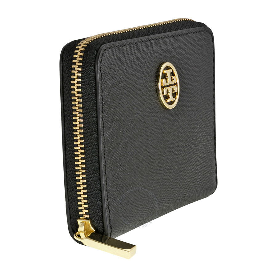 096c249dbaf4 Tory Burch Robinson Zip Saffiano Leather Coin Case - Black - Tory ...