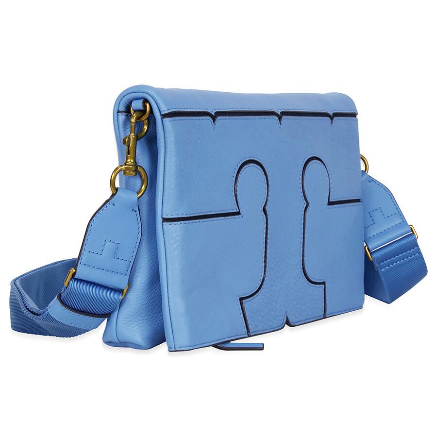 79f416d38bc Tory Burch Serif Leather Crossbody - Montego Blue - Tory Burch ...