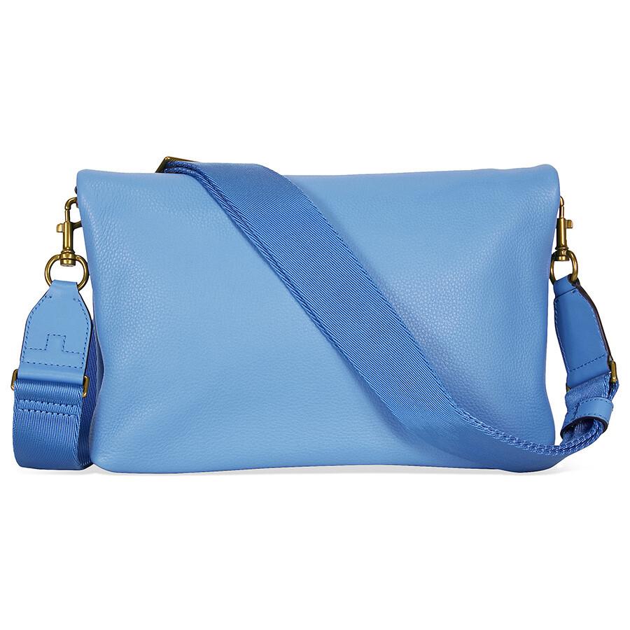 1dab573c80e Tory Burch Serif Leather Crossbody - Montego Blue Item No. 34258-457