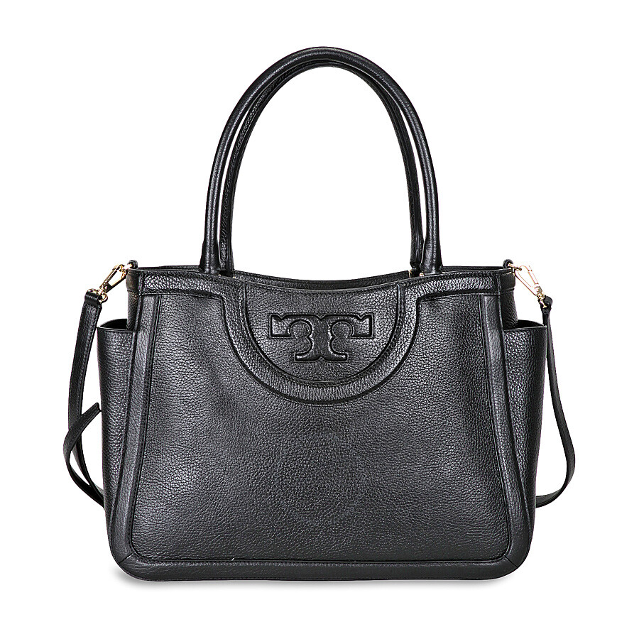 51c96386ab4a Tory Burch Serif-T Leather Satchel - Black - Tory Burch - Handbags ...