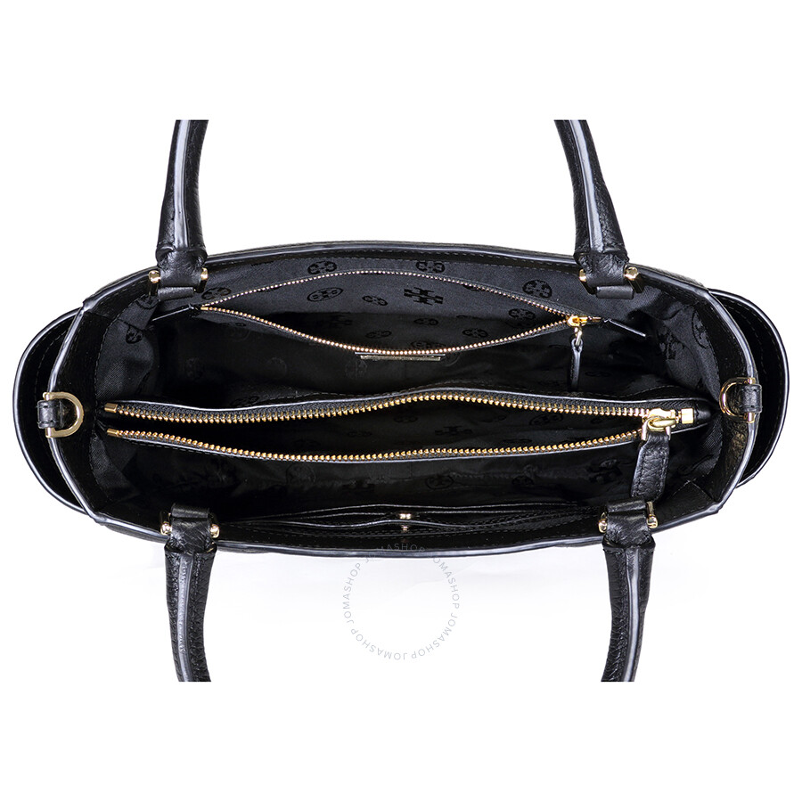 1a5c4fd5be78 Tory Burch Serif-T Small Leather Satchel - Black - Tory Burch ...