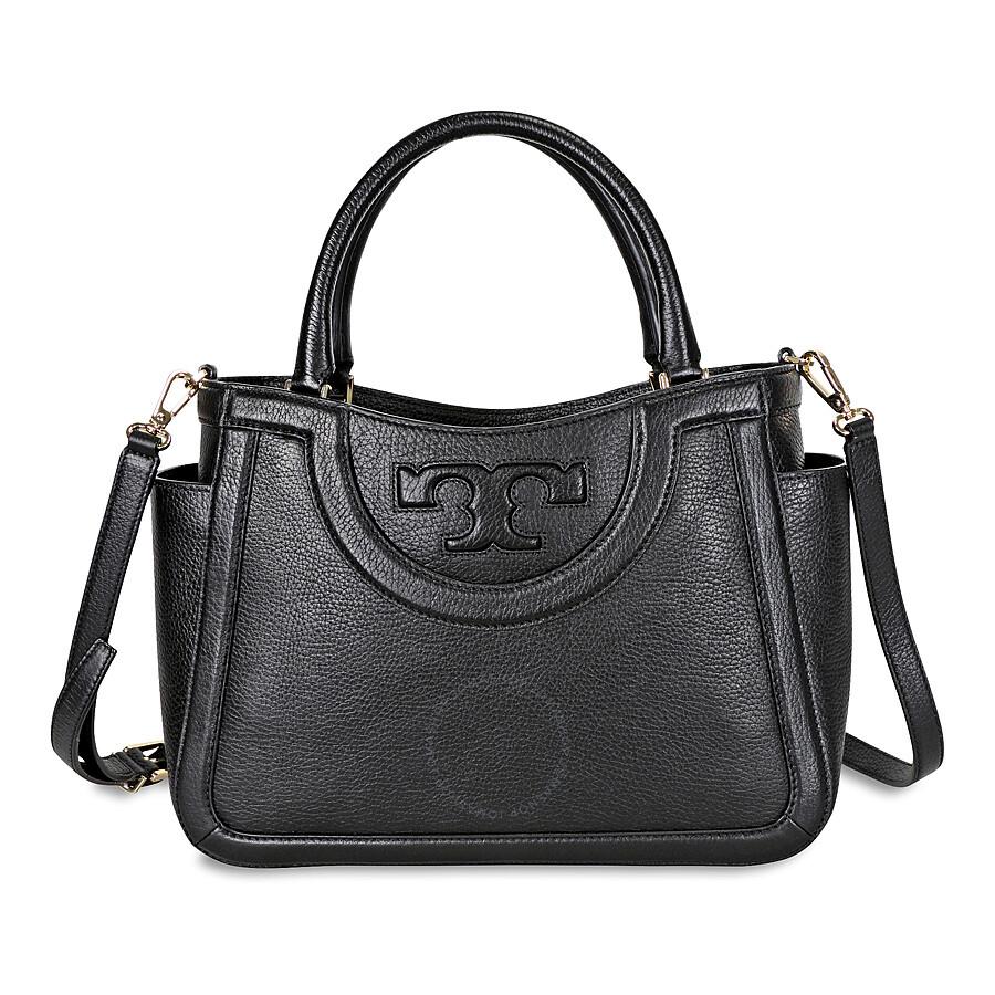 20e8548c7024 Tory Burch Serif-T Small Leather Satchel - Black Item No. 52159796-001