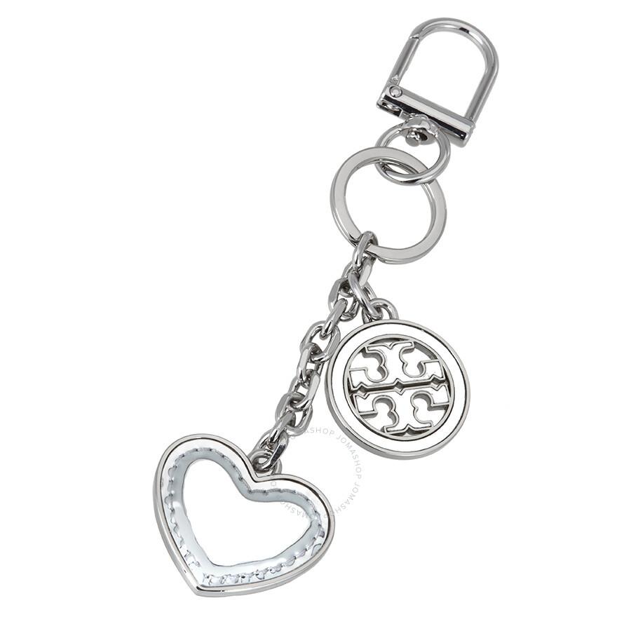 dd0dc00d572b Tory Burch Silver Metallic Heart Key Fob - Tory Burch - Handbags ...