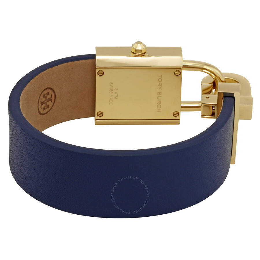 ca994ee2037 Tory Burch Surrey Ivory Dial Navy Leather Ladies Watch TB7002 - Tory ...