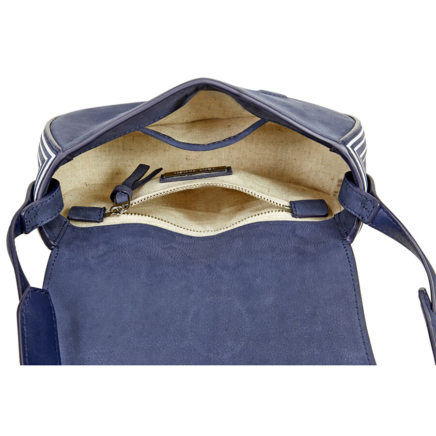 905709b0480 Tory Burch Tassel Mini Suede Leather Saddlebag - True Blue - Tory ...
