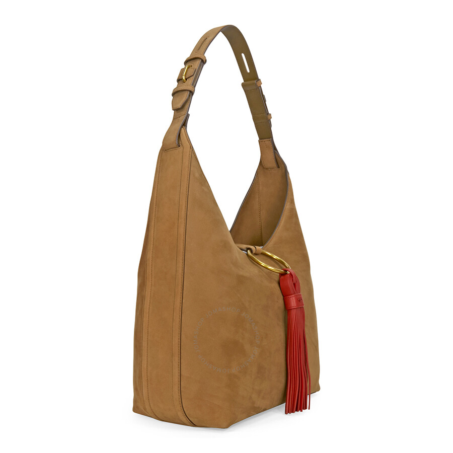 Tory Burch Tassle Suede Hobo Bag - River Rock - Tory Burch ...