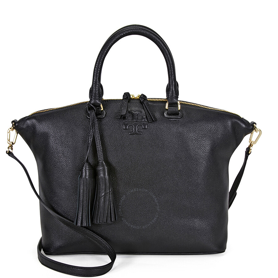 619be8300f3 Tory Burch Thea Medium Slouchy Leather Satchel - Black Item No. 11169718-001
