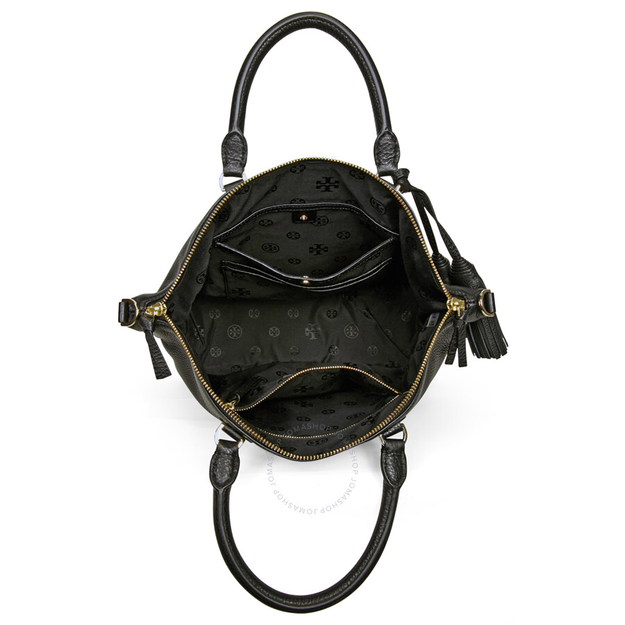 82c8021b59ad Tory Burch Thea Medium Slouchy Leather Satchel - Black - Tory Burch ...