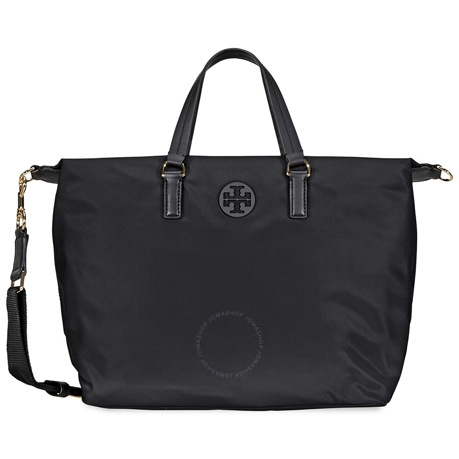 9682465f7e9 Tory Burch Tilda Nylon Slouchy Satchel- Black Item No. 51334-001