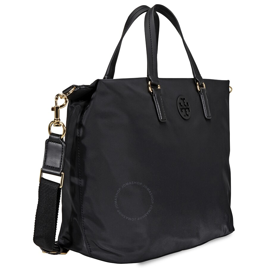 58457656768 Tory Burch Tilda Nylon Slouchy Satchel- Black - Tory Burch ...