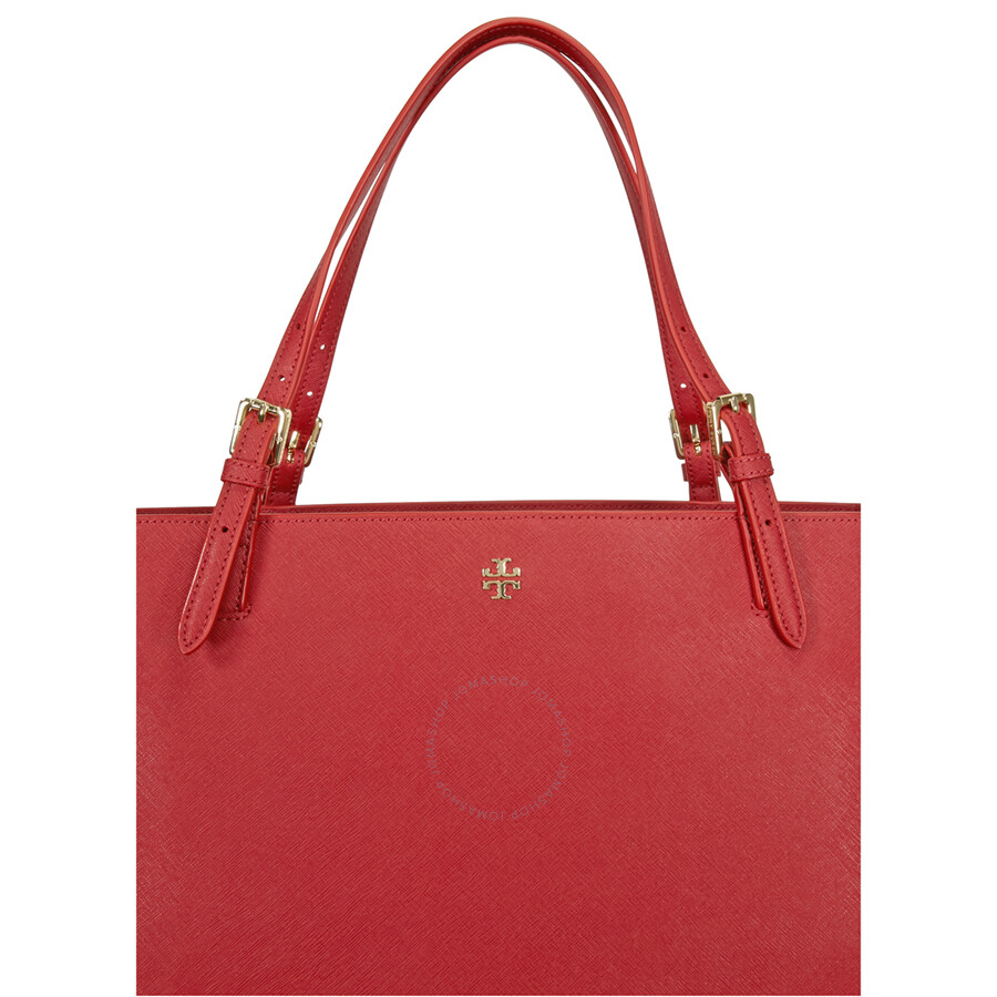 821c56c3175e Tory Burch York Buckle Leather Tote - Kir Royale Item No. 22149613-996