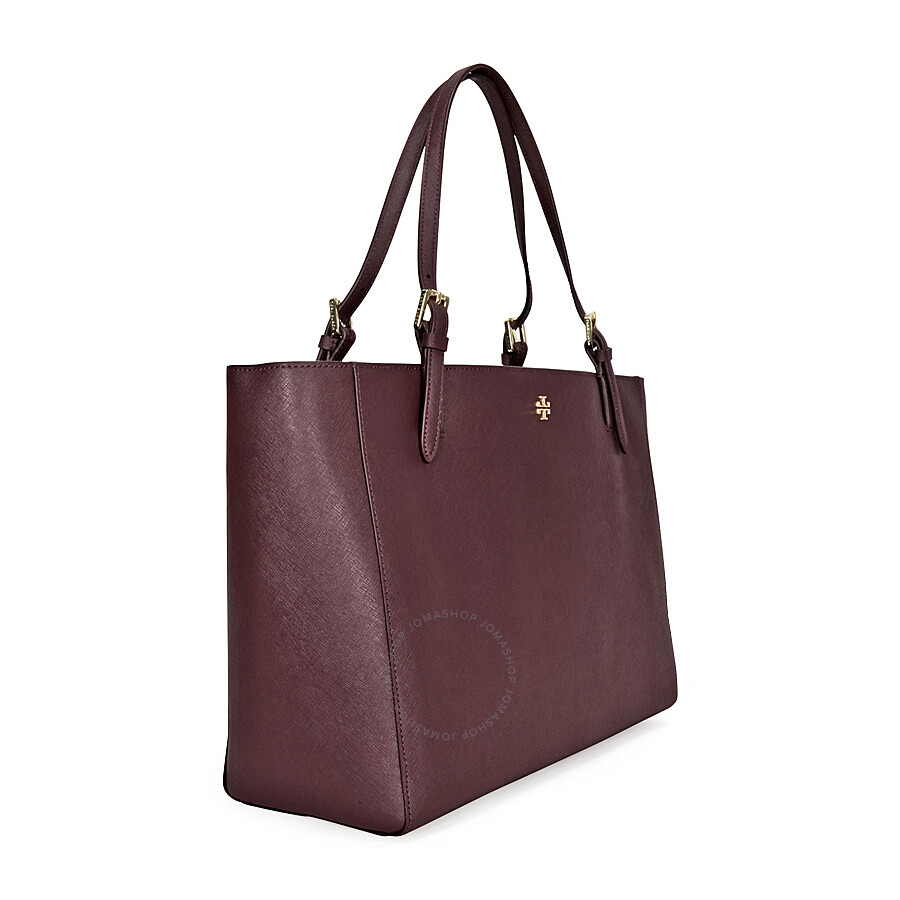 d9ae460aa009 Tory Burch York Buckle Saffiano Leather Tote - Dark Plum - Tory ...
