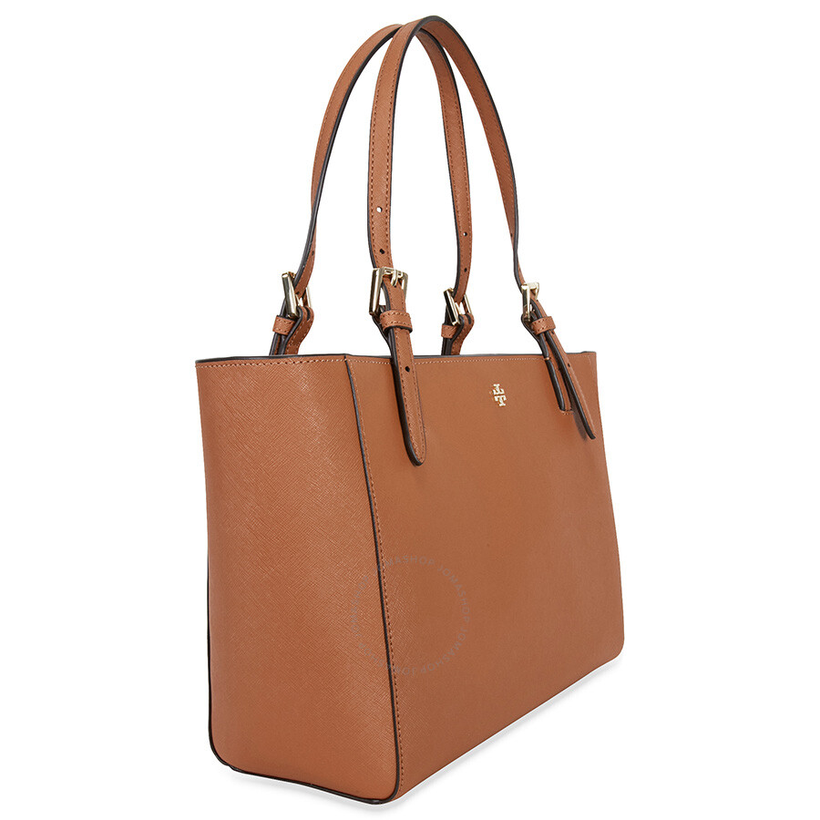 5702d1aba4cd Tory Burch York Small Buckle Leather Tote - Luggage - Tory Burch ...