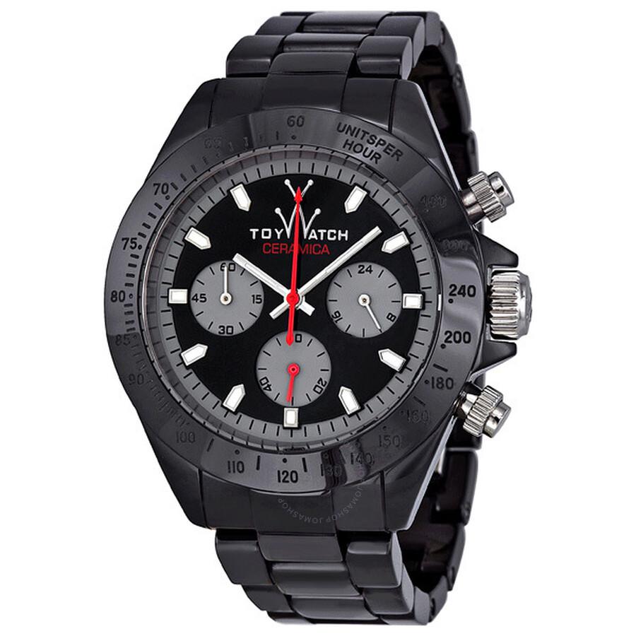 Toy watch ceramica chronograph black ceramic unisex watch cm04bk toy watch watches jomashop for Ceramica chronograph